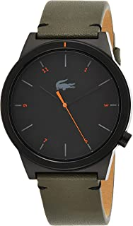 Lacoste Mens Quartz Watch, Analog Display and Leather Strap 2010991