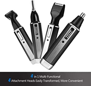 Nose & Ear Hair Trimmer,4 in 1 Nose Trimmer Mens Electric Hair Trimmer USB Rechargeable Grooming Shaving Eyebrow Sideburns Men's Facial and Body Hair Removal Facial Beauty Kit Tools (AY310)