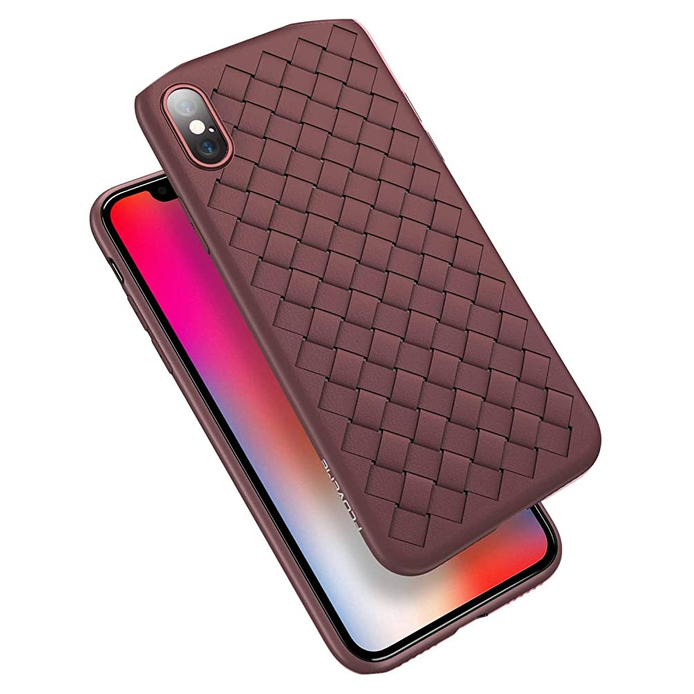 White Island Super Soft Phone Case for iPhone 8 X XS Max Luxury Grid Cases for iPhone 6 6s 7 8 Plus XR XS Cover Silicone Accessories,Brown,China,for iPhone 8