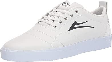 Lakai Footwear Bristol White/Charcoal Leathersize Tennis Shoe