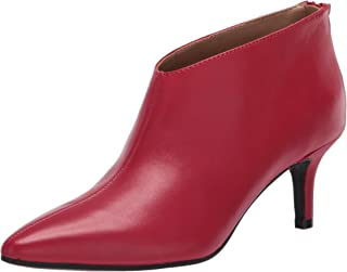 Aerosoles Women's Roxbury Ankle Boot, Red Leather, 10 M US