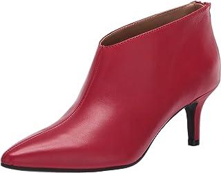 Aerosoles Women's Roxbury Ankle Boot, Red Leather, 8.5 M US