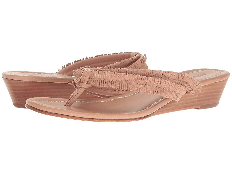 Bernardo Miami Fringe Wedge (Blush) Women