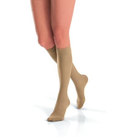 Amazon Com Jobst Stockings Ultra Sheer Knee High 15 20 Mm Hg Compression Beige X Large Health Personal Care