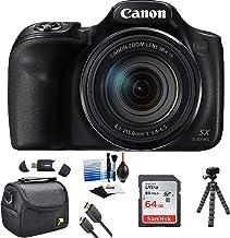 Canon PowerShot SX540 HS - Cámara digital Wi-Fi con tarjeta de 64 GB + funda + cable HDMI + trípode + kit
