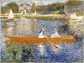 Global Gallery Art on a Budget Pierre Auguste Renoir The Seine at Asnieres Unframed Giclee on Paper Print, 16 5/8