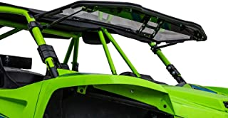SuperATV Heavy Duty Scratch Resistant Flip 3-IN-1 Windshield for Textron Wildcat XX (2018+) - 250X Stronger Than Glass!