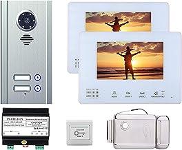 Video Deurbel, Appartement Video Deurtelefoon Bewaking Van Het Huis, Intercom, Nachtzicht Camera + 7 Inch Monitor + Deurslot