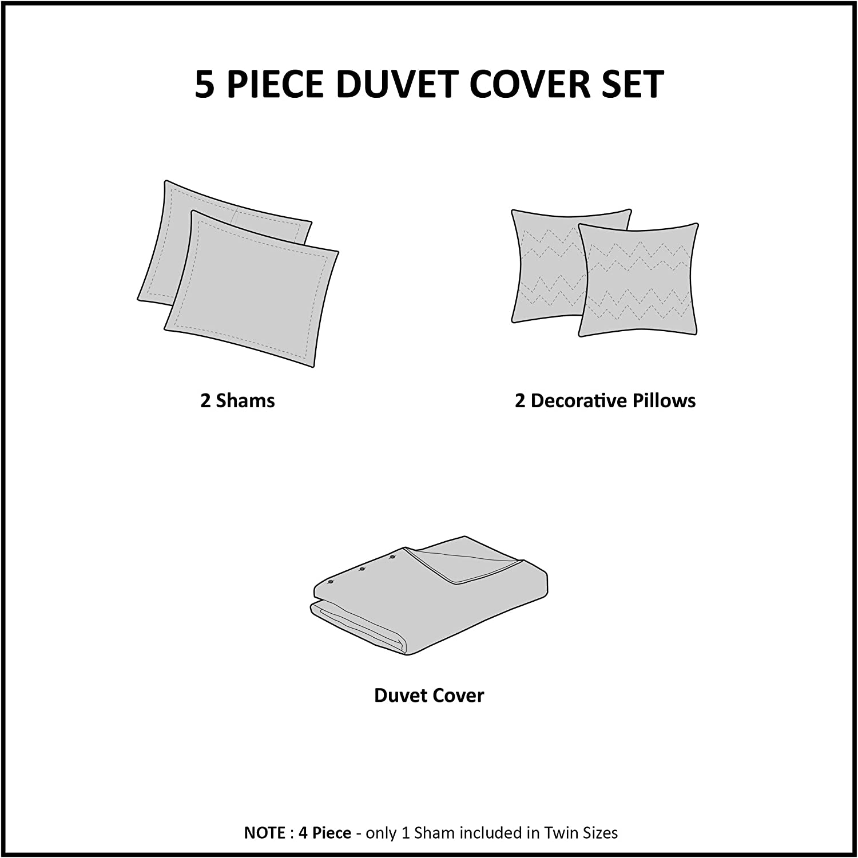 Blush//Gold Twin//Twin XL Intelligent Design Raina Metallic Printed Duvet Cover Set