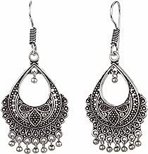 Efulgenz Indian Vintage Retro Ethnic Gypsy Oxidized Boho Dangle Drop Hook Earrings for Girls and Women Love Gift