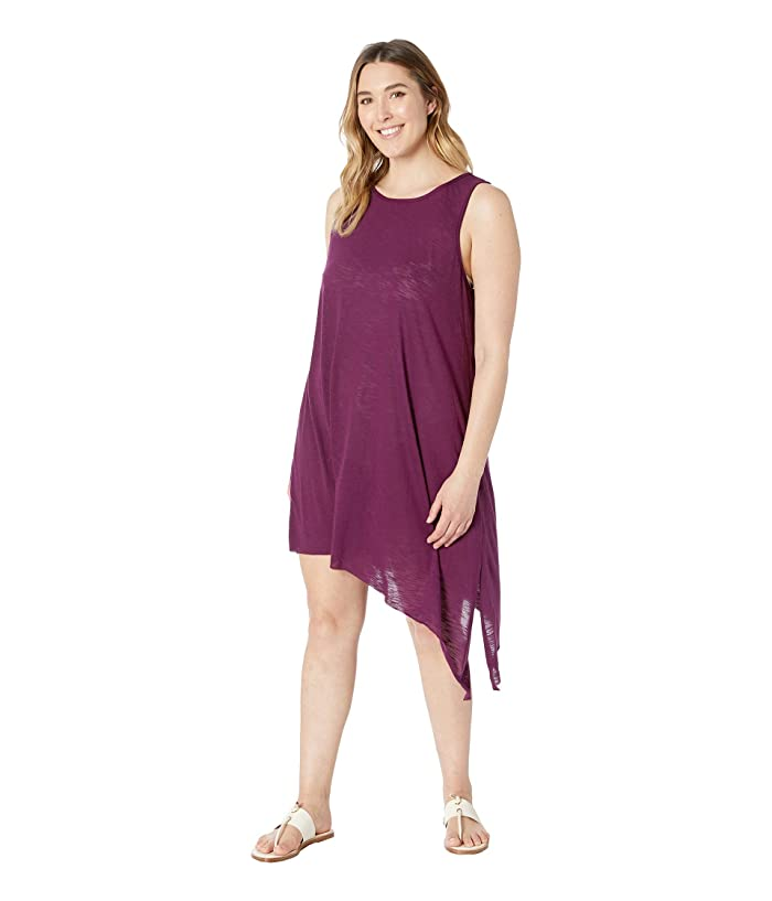 BECCA by Rebecca Virtue Plus Size Keyhole Dress Cover-Up (Merlot) Women