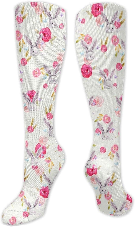 Rabbit Rose Knee High Socks Leg Warmer Dresses Long Boot Stockings For Womens Cosplay Daily Wear