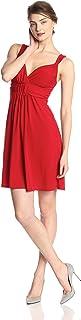 Star Vixen Women's Sleeveless Knot-Front Surplice Dress