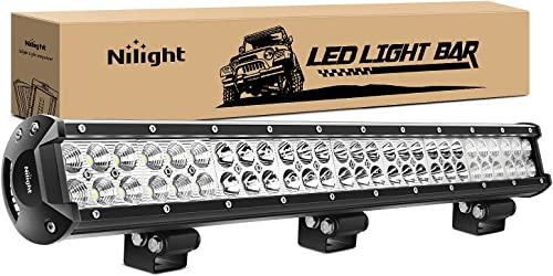 """high quality Nilight lowest - outlet sale 60007C-A 25"""" 162W Led Light Bar Flood Spot Combo Waterproof Driving Lights Off Road Lights for SUV UTE Truck ATV UTV ,2 Years Warranty outlet sale"""