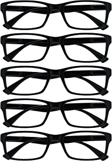 The Reading Glasses Company Black Value 5 Pack Mens Womens Designer Style Readers RRR92-1 +2.00
