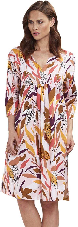 Feraud 319512510737 Women's Voyage Coral Multicolour Tiger Print Cotton Beach Dress