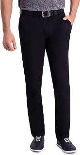 Haggar Men's Premium Comfort Khaki Flat Front Slim Fit Pant Casual Pants