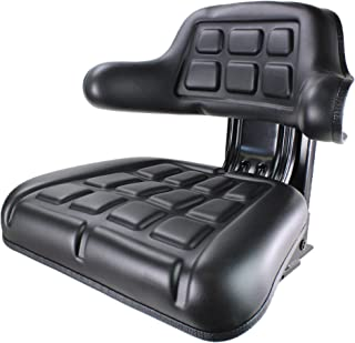 E-D9NN400DB12B Wrap Around Black Tractor Seat for Ford/New Holland NAA, 2N, 8N, 9N, 501, 600, 700, 800, 900, 2610, 2810, 2910, 2120, 2600, 2110, 2000, 3400, 3330, 3300, 3500, 3310, 3120, 3230, 3000+