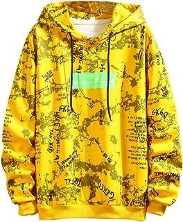 AngelSpace Men Drawstring Pure Color Vingtage Rider Style Sweatshirt Hoodies