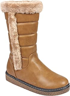 Flat n Heels Womens Khaki Boots FnH 1710-A2-KH