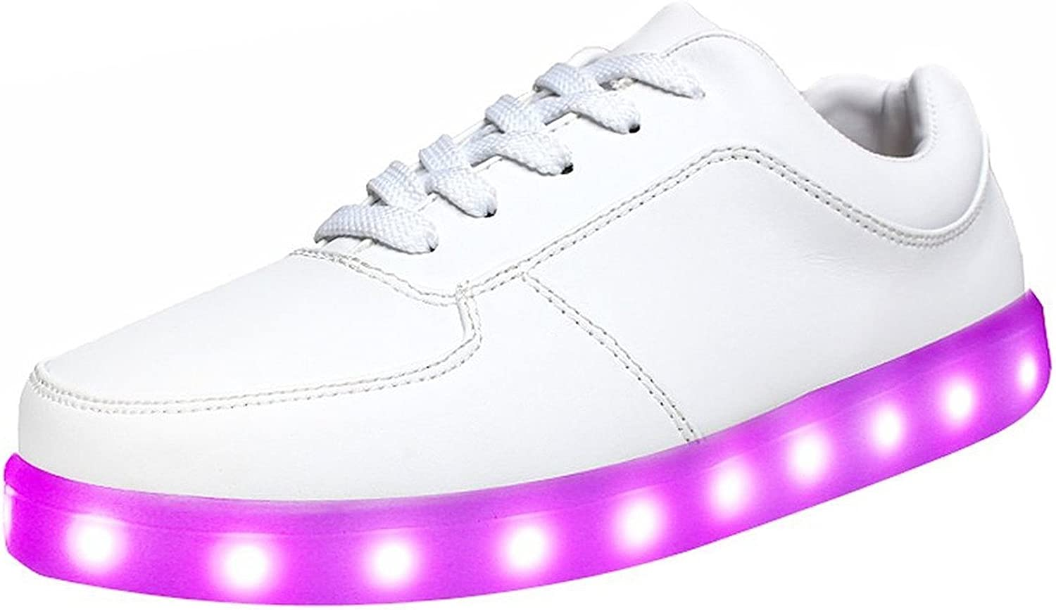 Pilusooou Cool and Popular Unisex 7 colors LED Light Up Sport shoes Flashing Sneakers