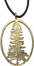 product image for From War to Peace California Redwood Gold-Dipped Pendant Necklace on Adjustable Natural Fiber Cord