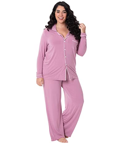 Kickee Pants Collared Pajama Set (Pegasus/Natural) Women