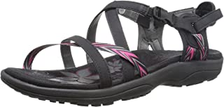 Skechers Women's Reggae Slim-Keep Close Gladiator Sandals Flat