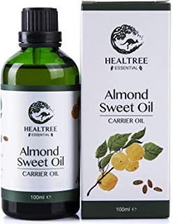HEALTREE Sweet Almond Carrier Oil 100ml (100% Pure & Natural Australian Cold Pressed Virgin Grade) | Gentle on Scalp for H...