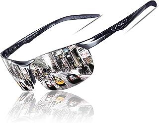 KITHDIA Occhiali da sole polarizzati per guidare gli uomini - Al-Mg Metallo Cornice Sport Occhiali da sole S6502