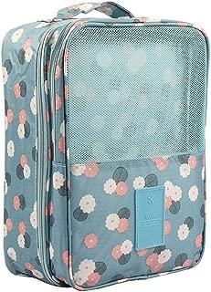 Necessaire Organizador Bolsa Porta Sapato Mala Academia Cor: Azul Floral