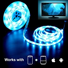 Smart LED Strip Light,MOCREO WiFi LED Light Strip RGBW TV Backlight 16.4f for 24-75in Smart TV Backlight, APP Controlled,300leds,Waterproof IP65, 2.4G Hz Wi-Fi Only