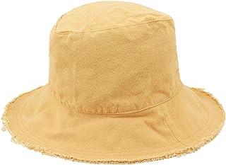 863355f3ead Surkat Unisex Frayed Washed Bucket Hat Foldable Cotton Fisherman Cap Brim  Visors Sun Hat