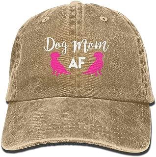 HKAB ZLAO Dog Mom AF Dog Lover Interesting Hat Adjustable Denim Hat Baseball Cap