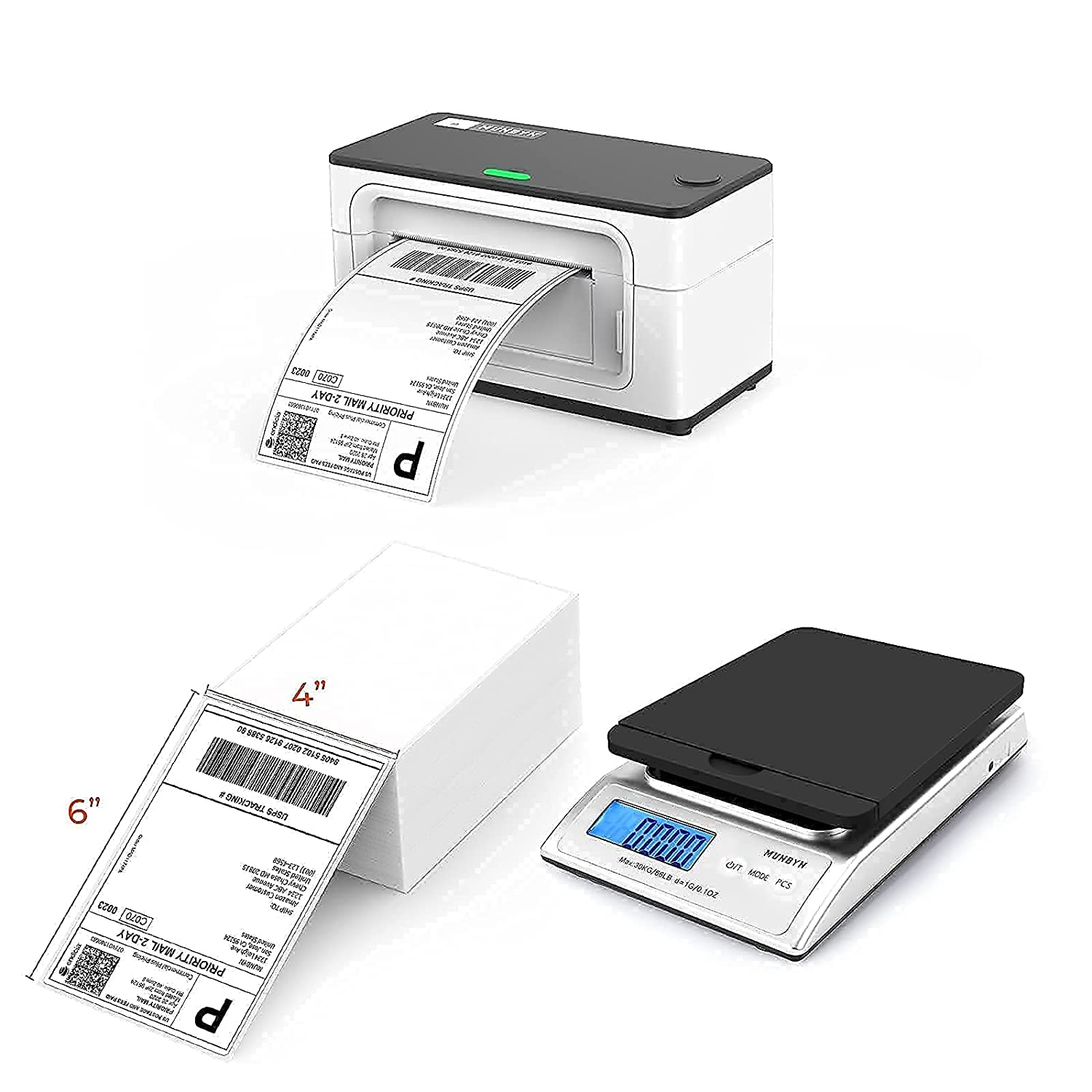 Home Business Set of Shipping Scale&Thermal Label Printer&hermal Shipping Label