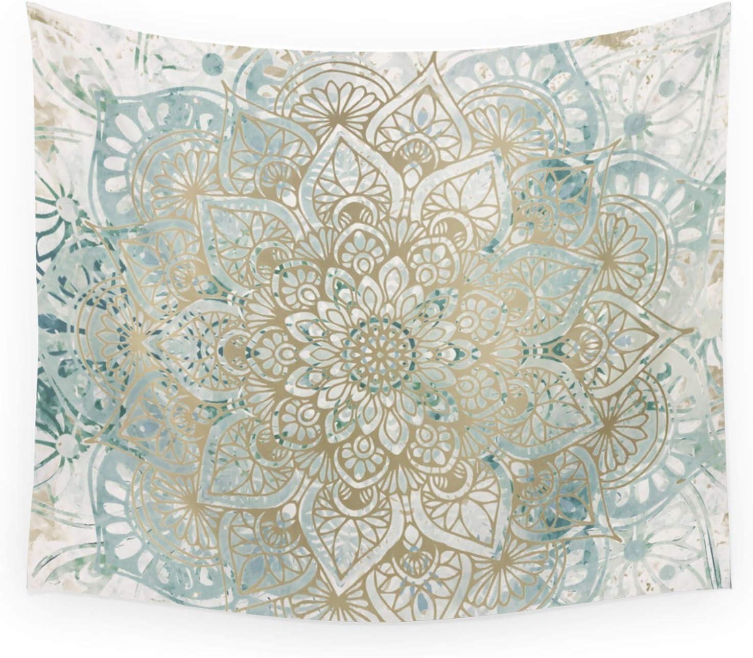 Society6 Yoga Mandala Teal and Gold Direct store Mo Wall Boho Popular Art Megan by