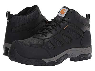 Carhartt Lightweight Waterproof Hiker Carbon Nano Comp Toe (Black Leather) Men