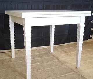 Legno&Design Mesa Cuadrada Extensible Blanco