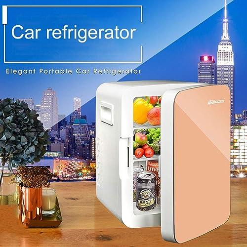 WERT Glacière électrique Portable 12V 220V Double Usage 10L Mini Réfrigérateur Très Silencieux Isotherme Chaud Froid pour Voiture Bureau Et Camping,blanc