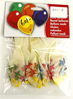 Balloon 6 Pieces Set 12 Inches - 601-6, Yellow