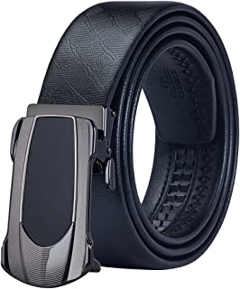Dubulle Ratchet Belt with Removable Buckle Genuine Leather Belt for Men Classic Fashion Black Belt