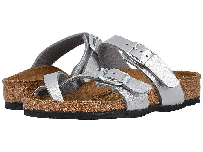 Birkenstock Kids  Mayari (Little Kid/Big Kid) (Silver) Girls Shoes