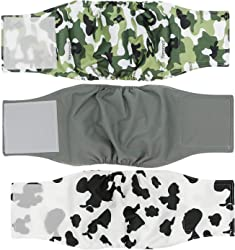 Cilkus Washable Male Dog Diapers (Pack of 3) - 2019 Male Dog Belly Wrap, Soft and Comfortable, with Adjustable Velcro Straps, Reusable Belly Bands