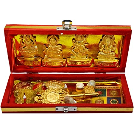 For immense wealth prosperity STYLE 4-3.5 Inches w//Plate Beautifully handcrafted in Brass//Ashtadhatu Gold Polished Lucky charm amulet yantra laxmis feet Sri Laxmi lakshmi charan paduka