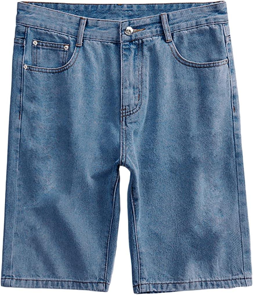 Men's Stylish Ripped Hole Denim Straight Summer Dist Limited price sale Short Regular discount Loose