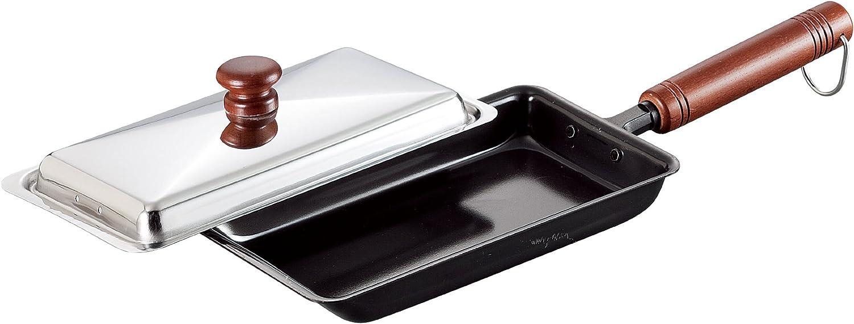 Comolife Iron Frying Pan Gyoza Dumpling & Fry Food, Made in Japan, Size   16.14 x 5.10 x 3.08 Inch