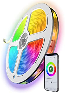 UPGRADED WiFi Smart LED Strip Lights 16.4ft Works with Alexa, Google Home Extra-Adhesive Bright 5050 LED, 16 Million Colors Phone App Controlled Strip for Home, Kitchen, TV, Party, for iOS and Android