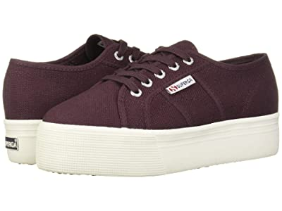Superga 2790 Acotw Platform Sneaker (Red Dark Wine) Women