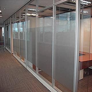 Coavas Privacy Window Film Decorative Static Cling Glass Window Film Non Adhesive Window Sticker for Office Home/Bathroom/Livingroom/Kitchen 35.5x78.8 inch