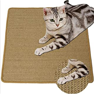 Non-Slip House Cat Sratching Pad, Natural Sisal Cat Paly Mat, Protective Cat Scratcher Pad (HCW03)